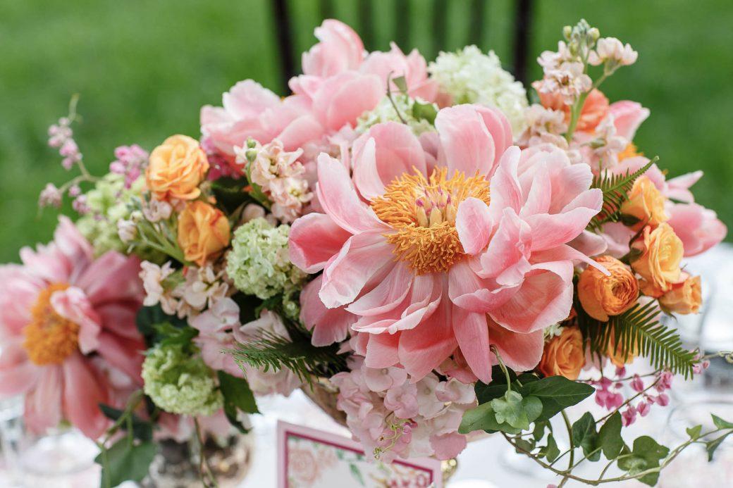 Peony Centerpiece | Spring Garden Wedding