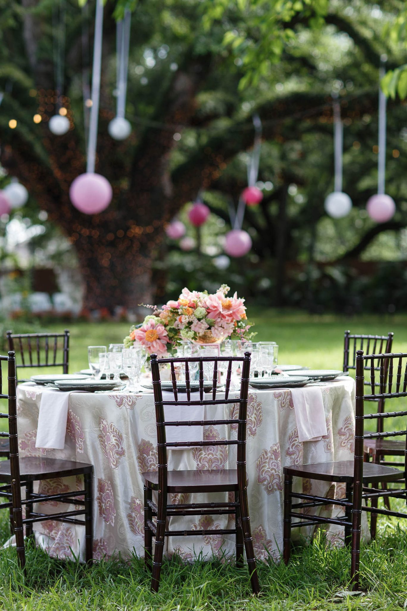 Reception Tablescape | Spring Garden Wedding