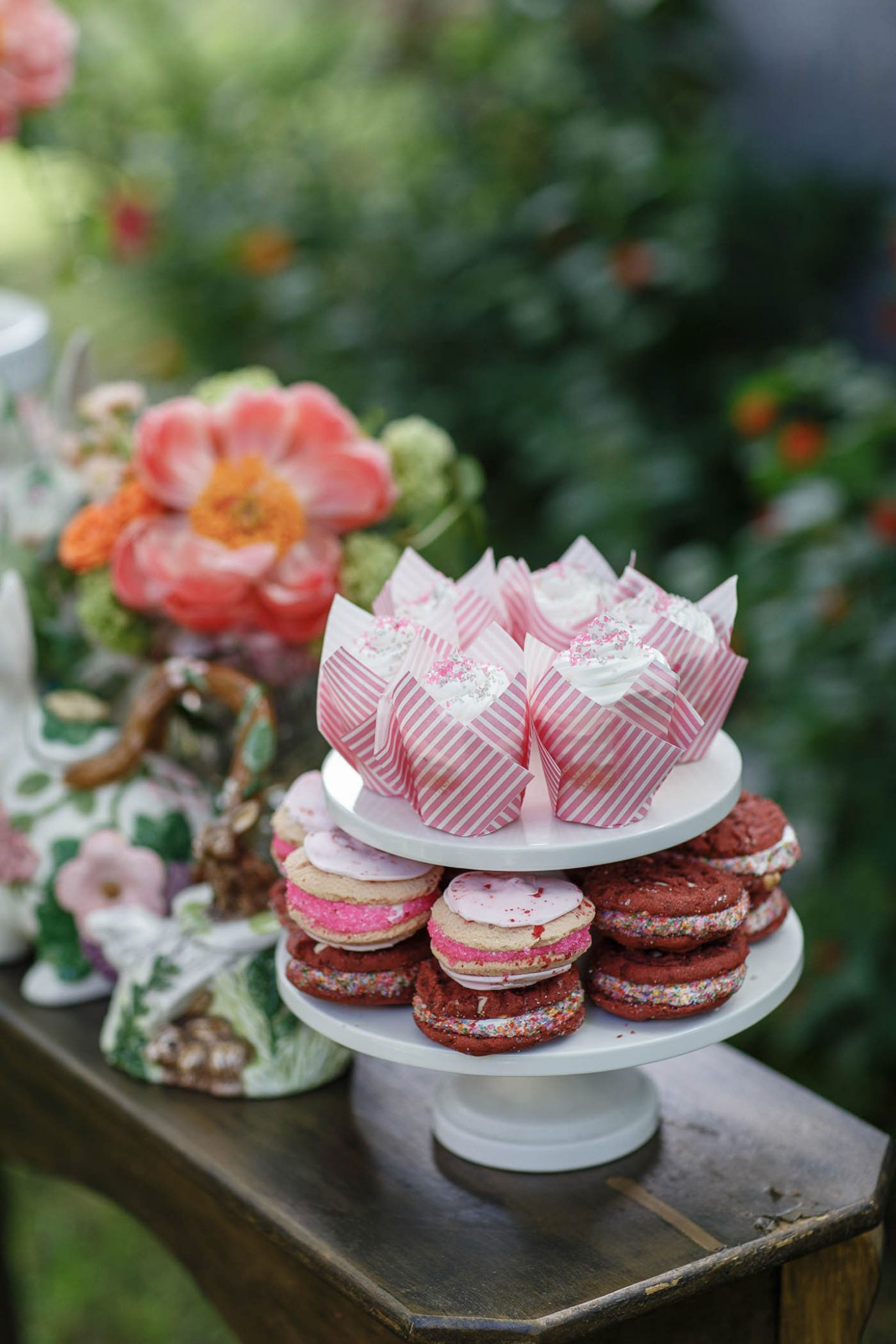Dessert spread | Spring Garden Wedding