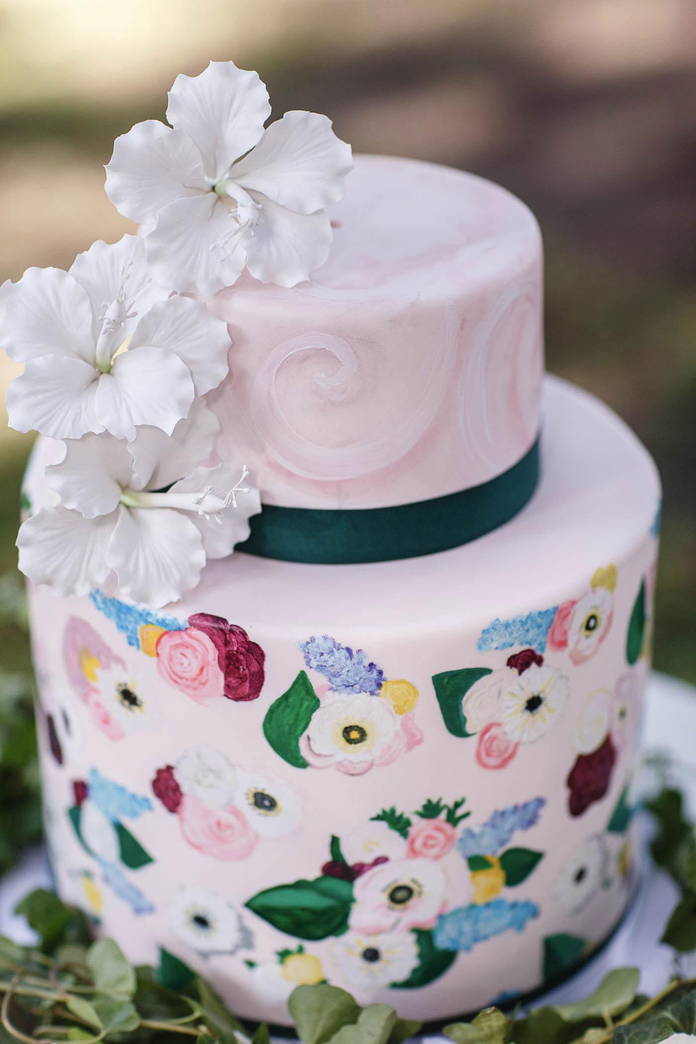 Floral Cake | Spring Garden Wedding