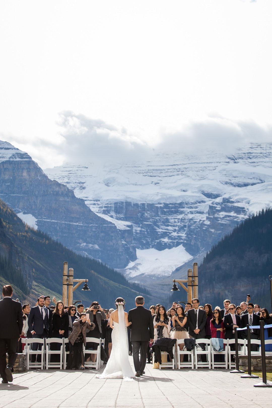 A Mountain Wedding at Chateau Lake Louise, Canada
