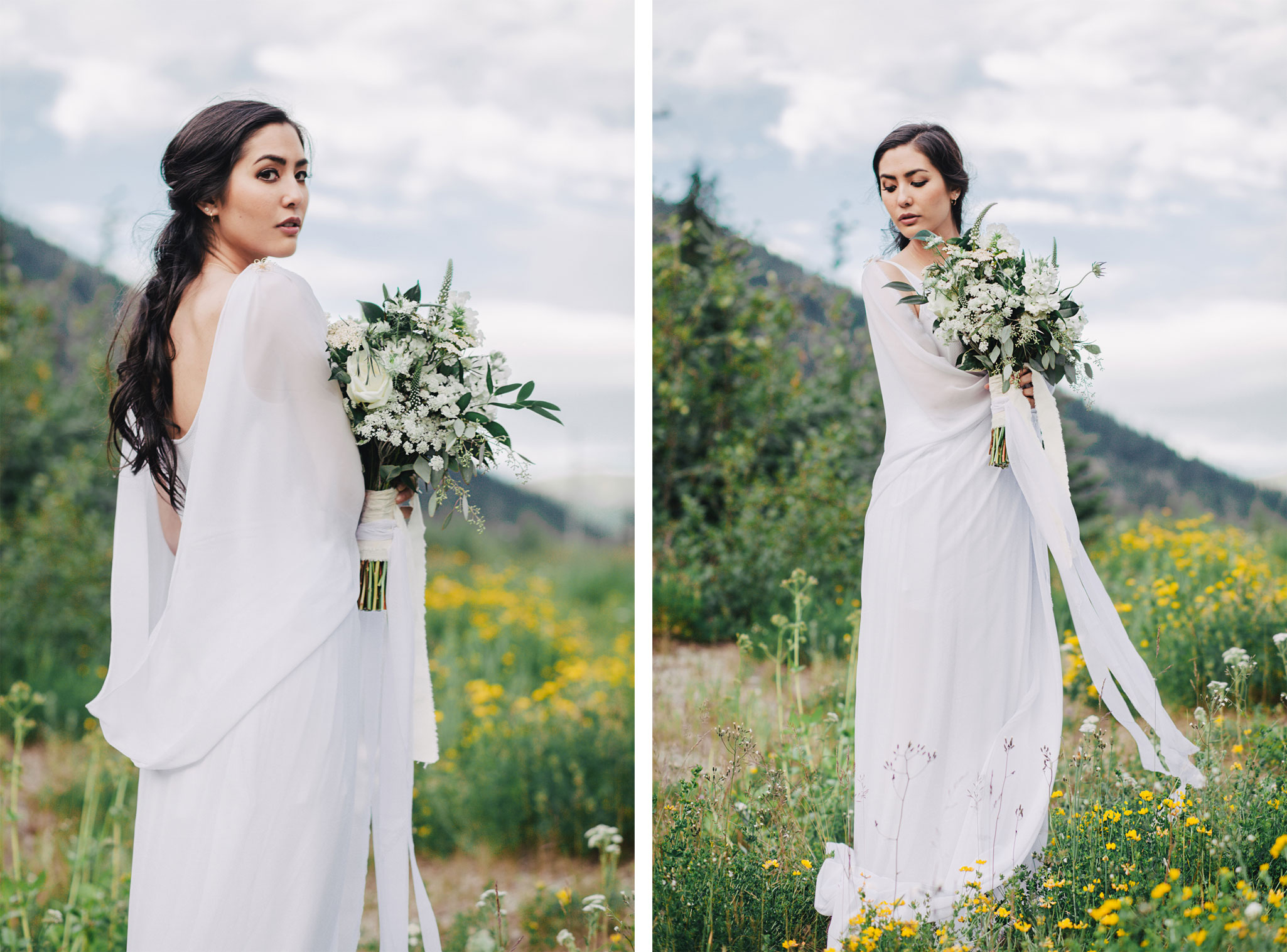 Organic Rocky Mountain Bridal Shoot in the Cascade Mountains