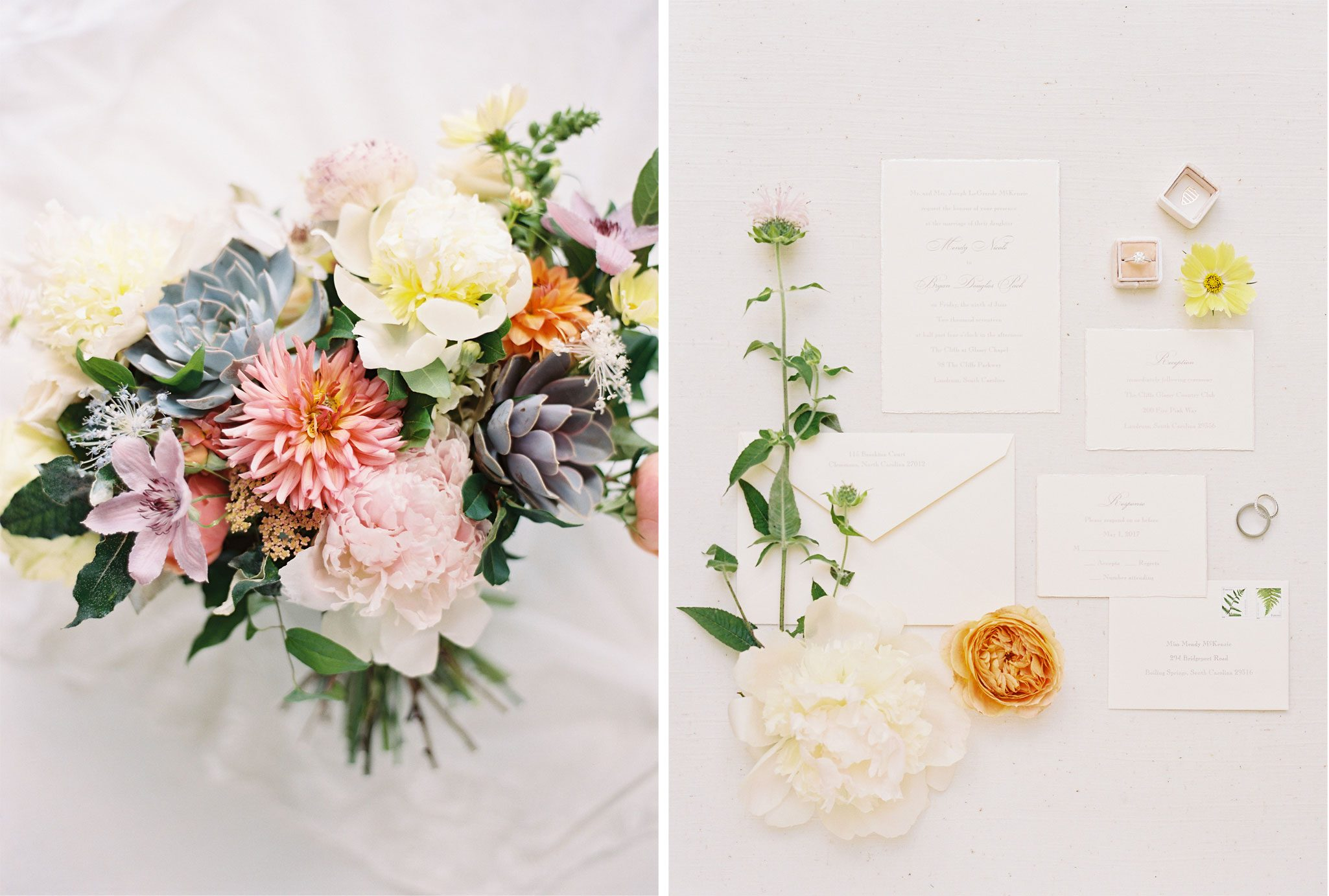Florals | A Blue Ridge Mountain Wedding in South Carolina