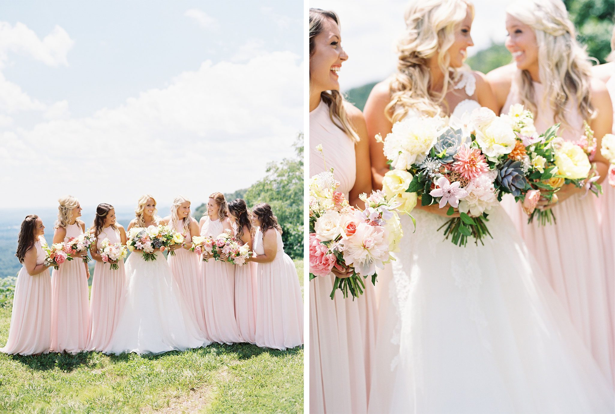 Bridesmaids | A Blue Ridge Mountain Wedding in South Carolina