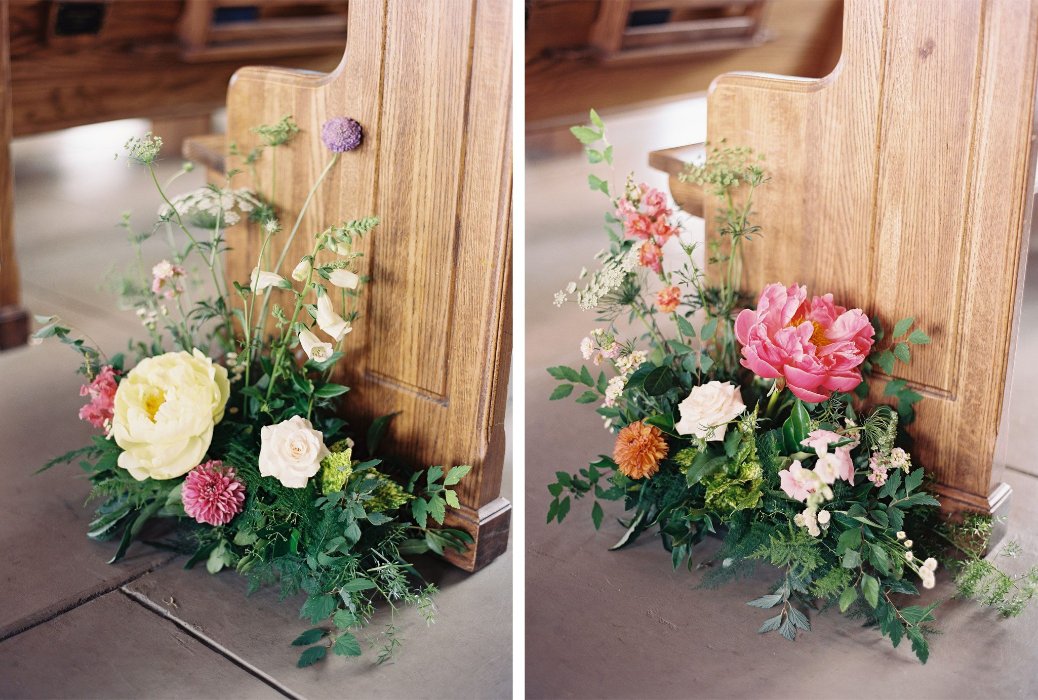 Church Florals | Blue Ridge Mountain Wedding in South Carolina