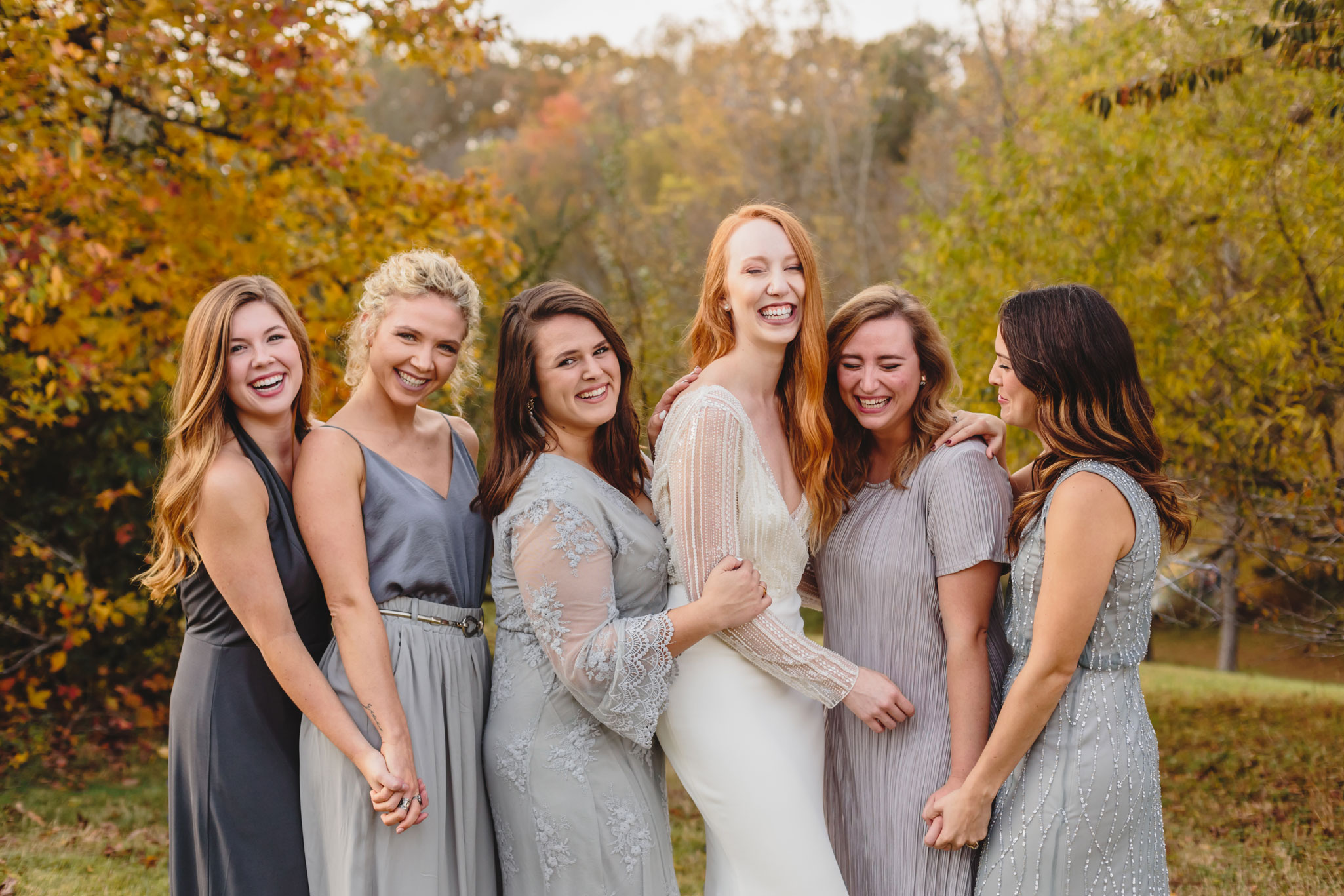 Bridesmaids | Autumn Tennessee Wedding in Knoxville