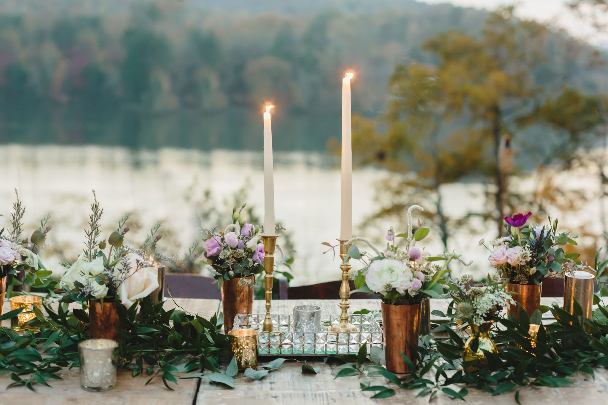 Fall Outdoor Table Setting | Autumn Tennessee Wedding in Knoxville, TN