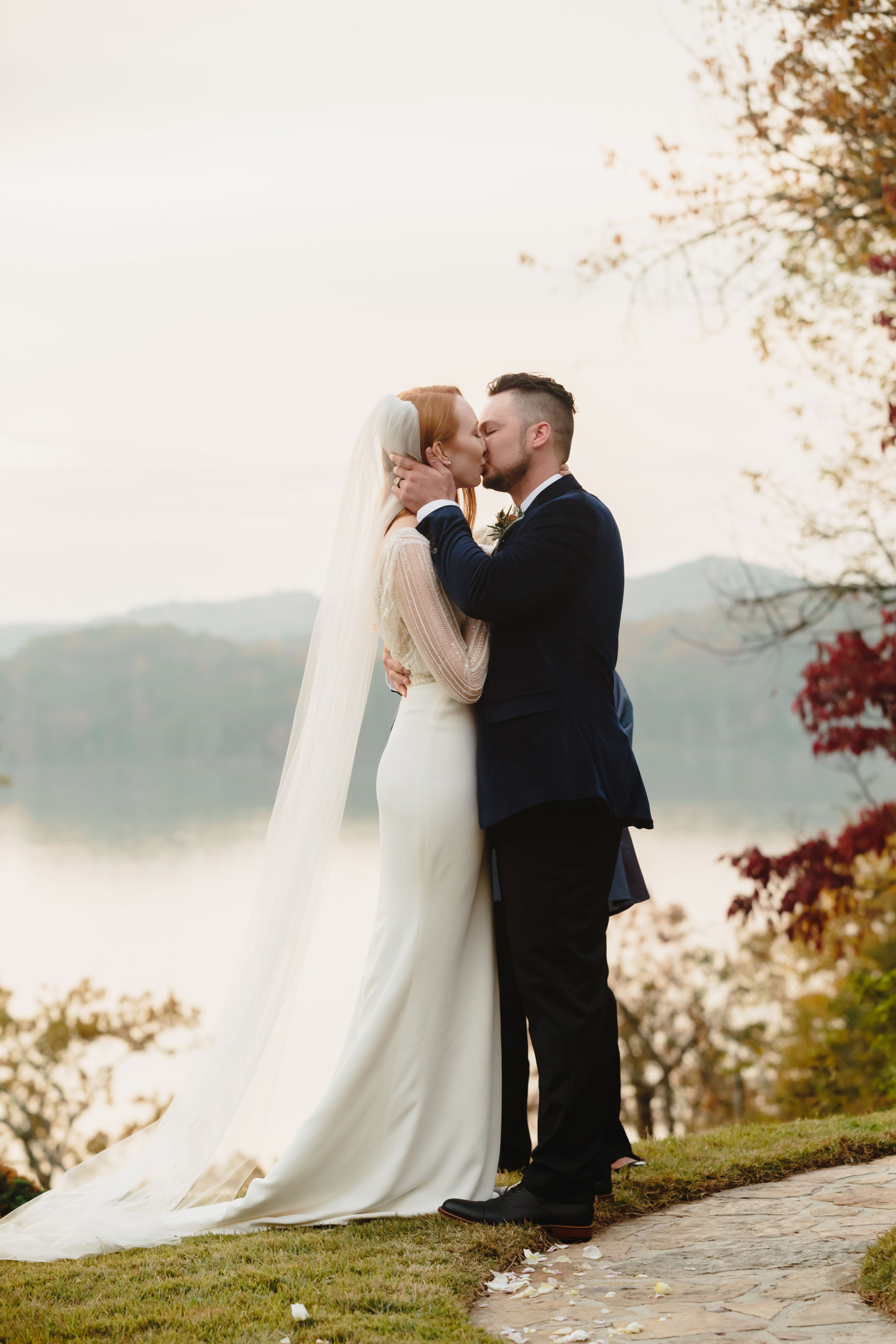 Outdoor Ceremony | Autumn Tennessee Wedding in Knoxville