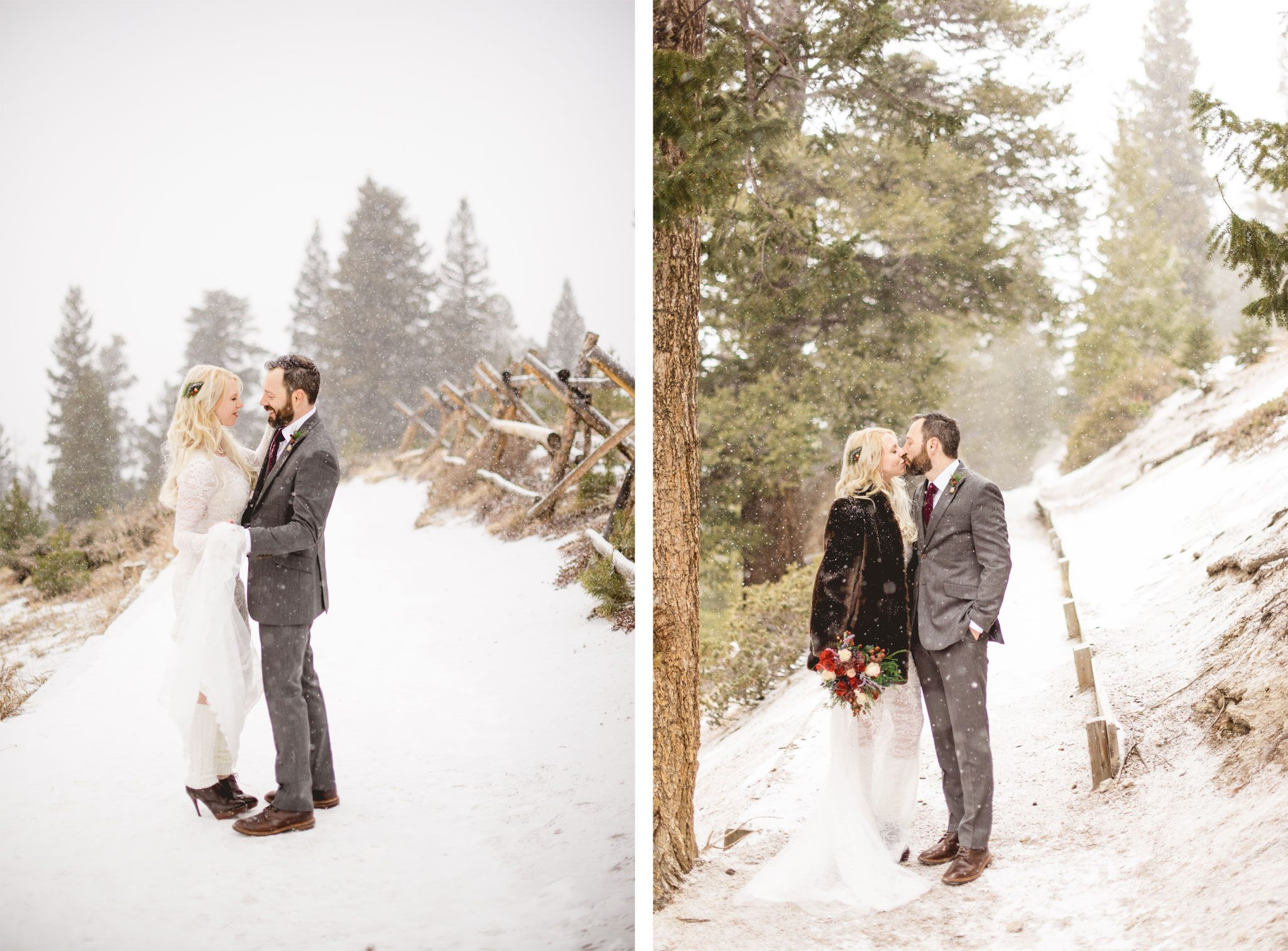 A Snowy Mountain Elopement in Colorado