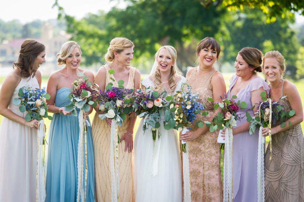 Bridesmaids | A simple Southern Wedding in Downtown Denver, Colorado
