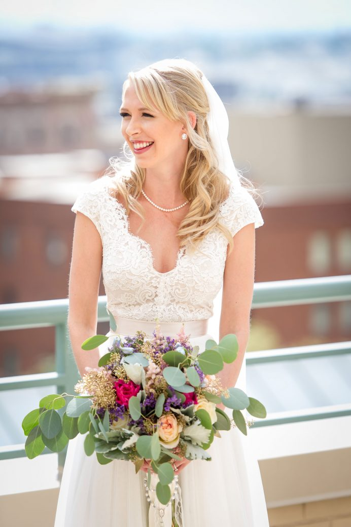Bride | A simple Southern Wedding in Downtown Denver, Colorado