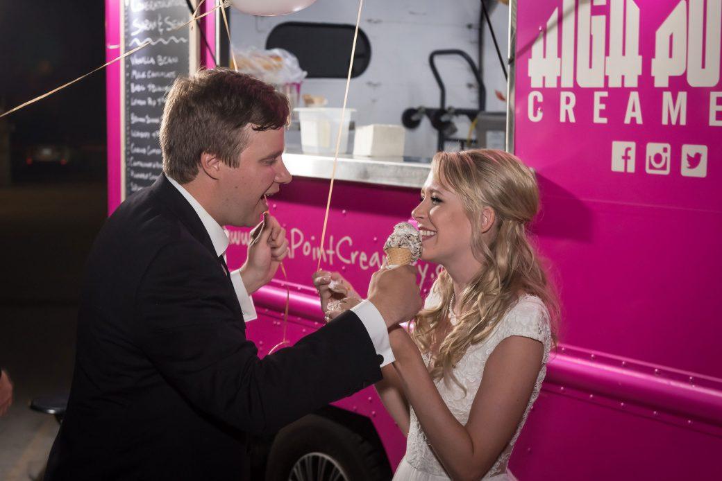 Bride + Groom + ice cream