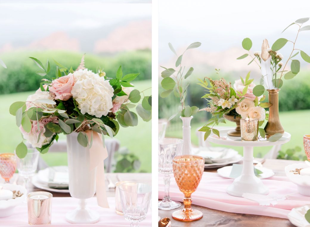 Reception centerpieces | Vintage Meets Glam Inspiration in the Mountains