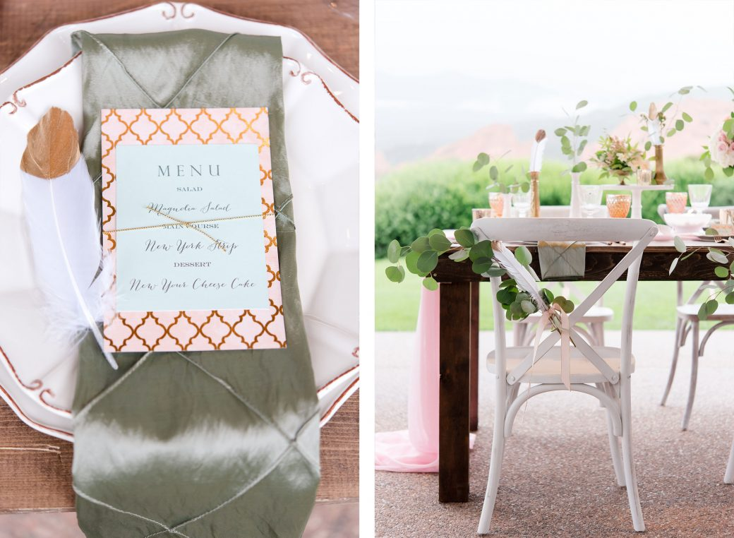 Wedding Tablescape | Vintage Meets Glam Inspiration in the Mountains