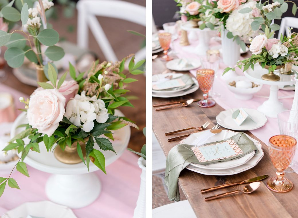 Reception tablescape | Vintage Meets Glam Inspiration in the Mountains