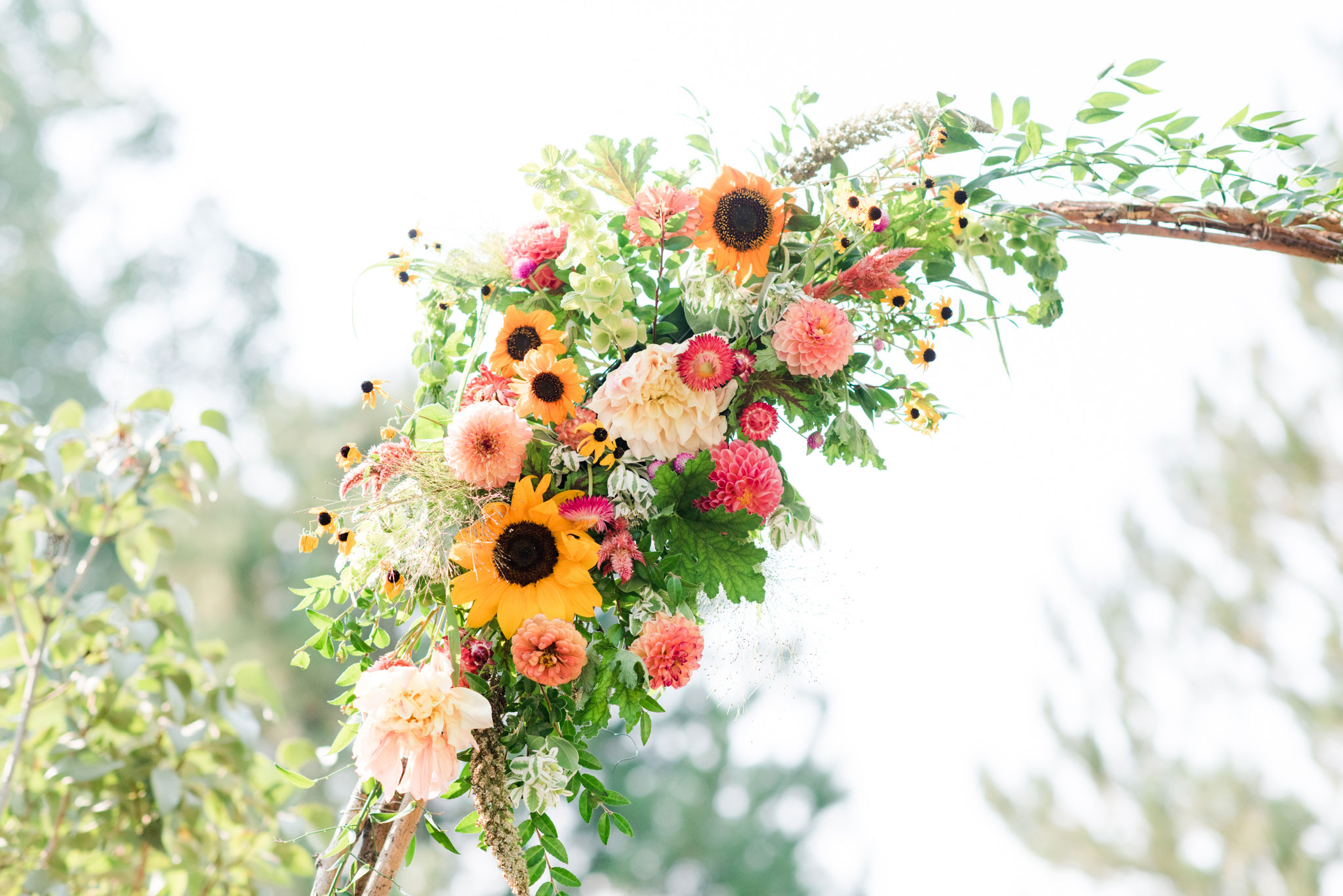 Flower arch | A Boho Garden Wedding in Colorado