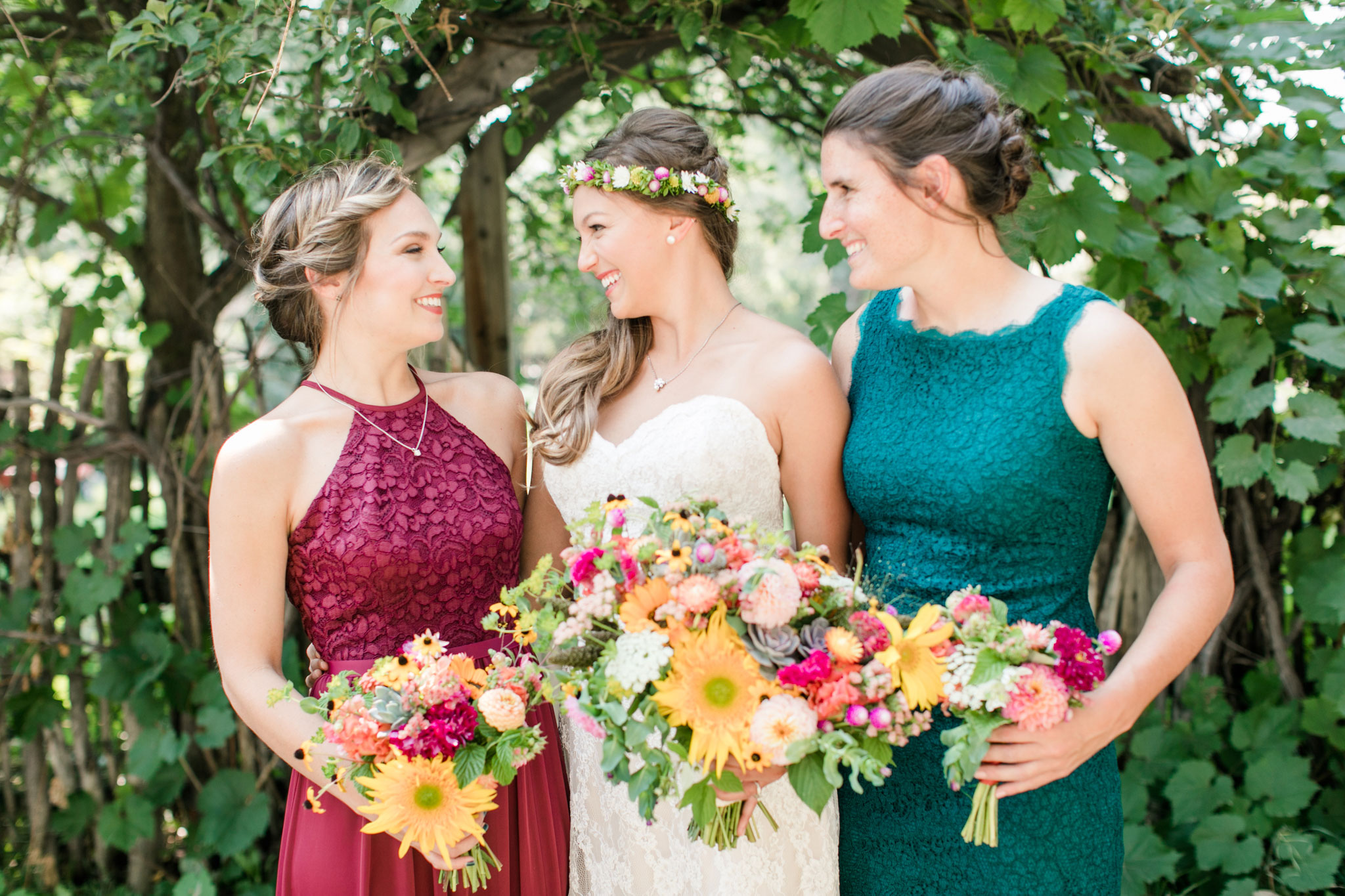 Bridesmaids | A Boho Garden Wedding in Colorado