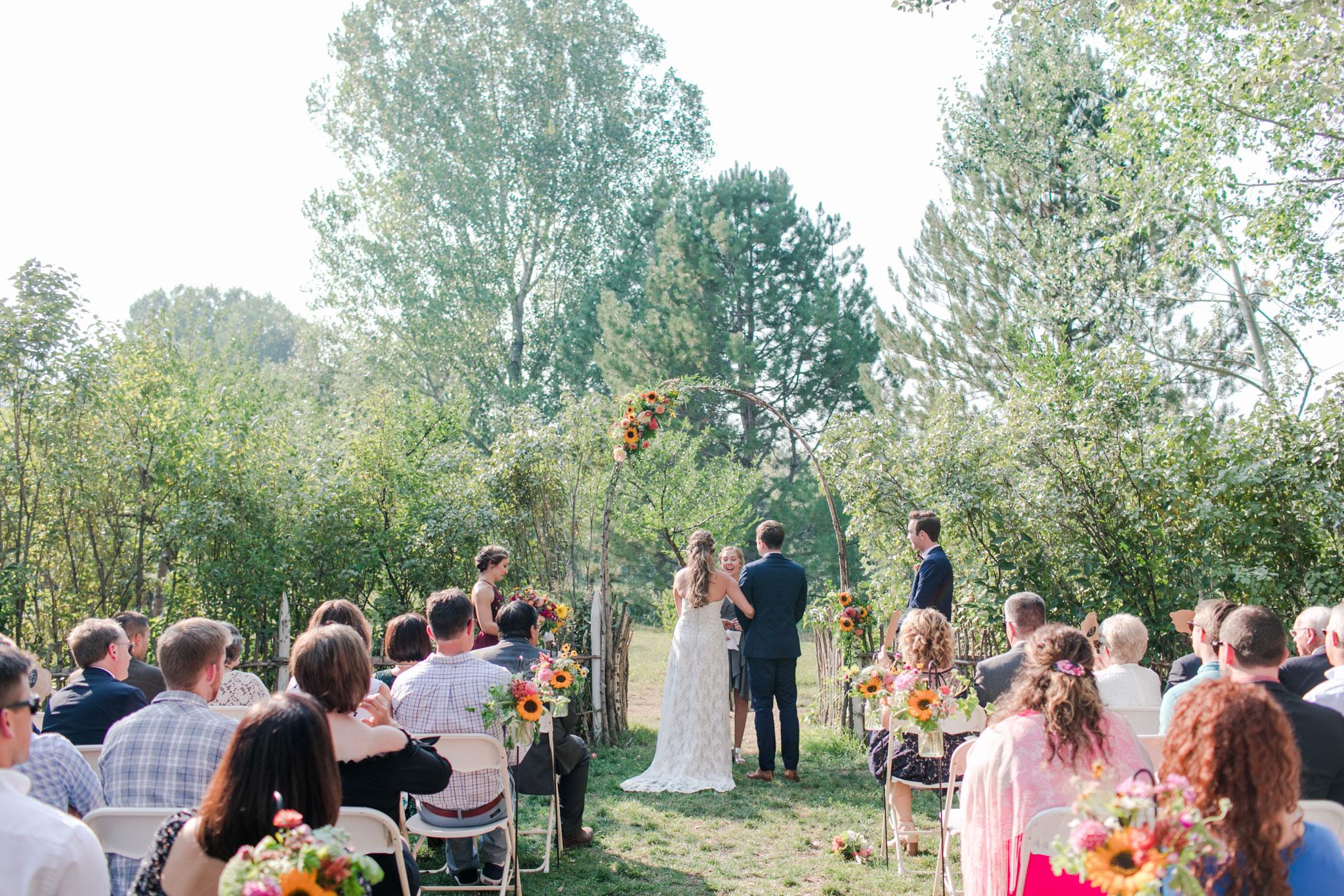Ceremony | A Boho Garden Wedding in Colorado