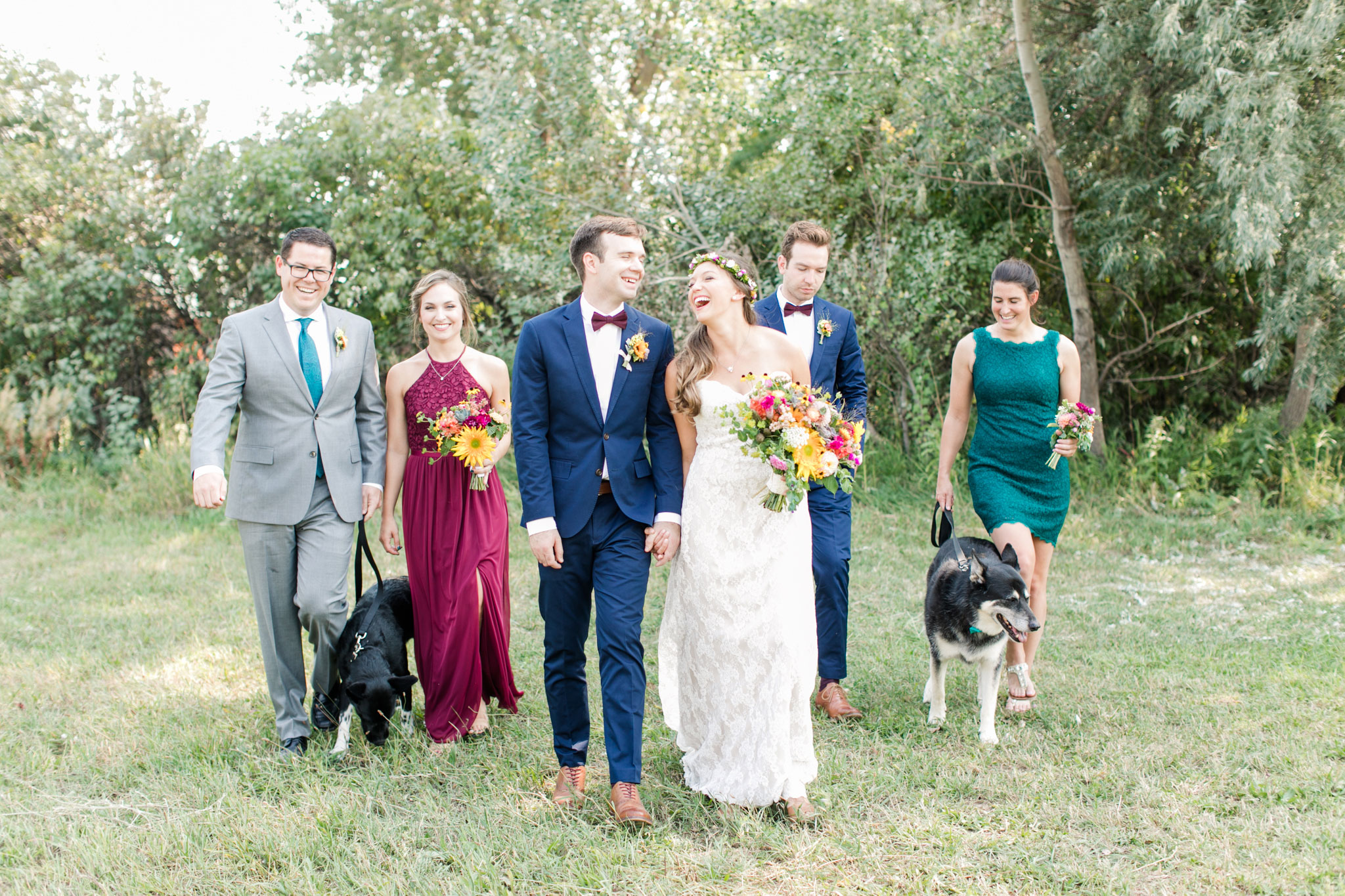 Wedding Party | A Boho Garden Wedding in Colorado