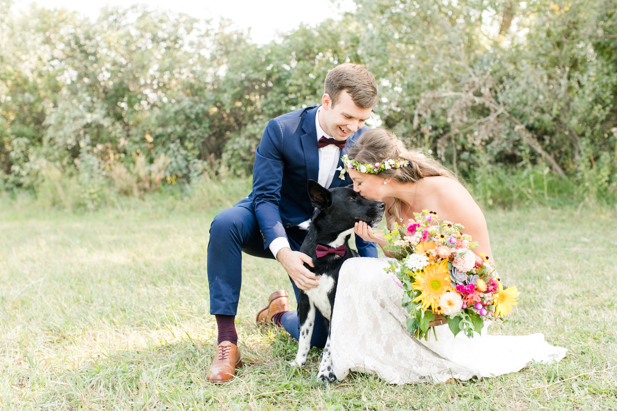 Bride + Groom + Dog | A Boho Garden Wedding in Colorado