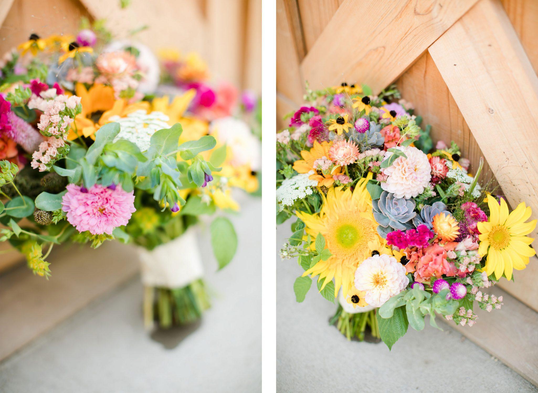 Flower Bouquet | A Boho Garden Wedding in Colorado