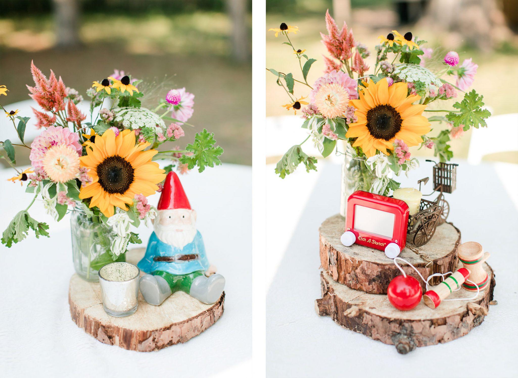 Centerpieces | A Boho Garden Wedding in Colorado