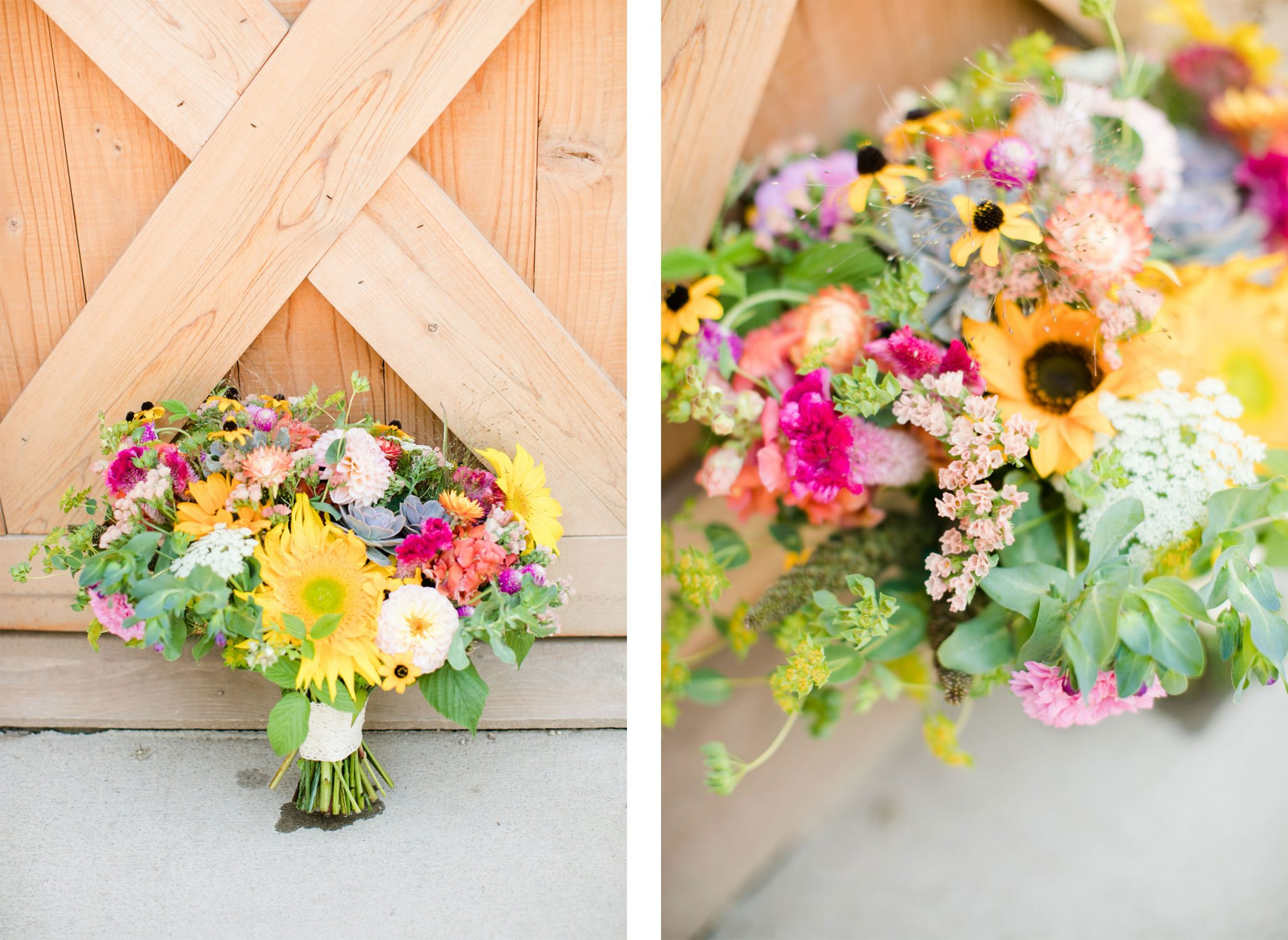 Wedding bouquet | A Boho Garden Wedding in Colorado