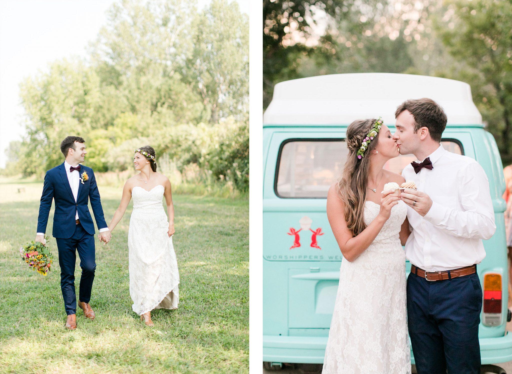 Bride + Groom | A Boho Garden Wedding in Colorado