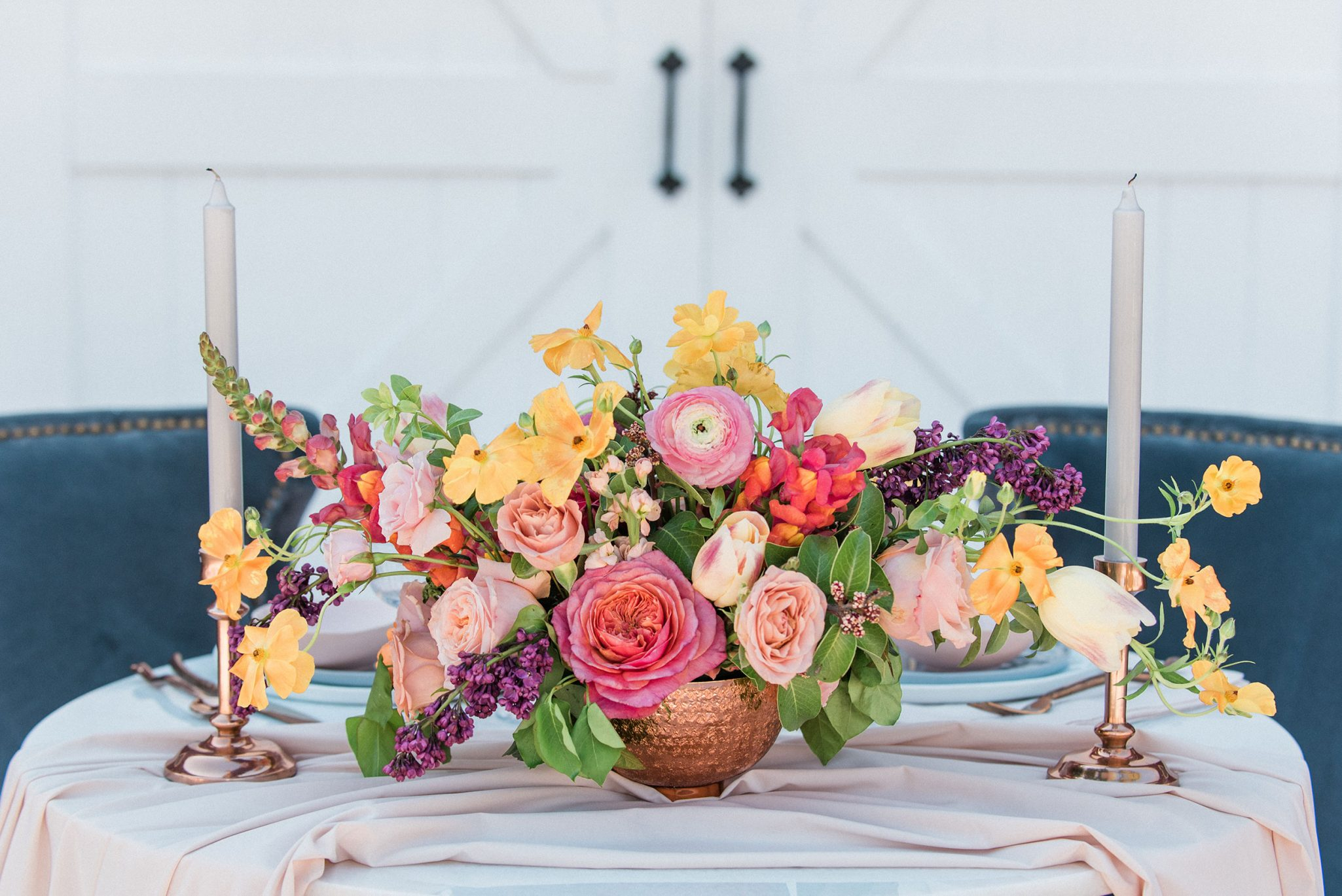A Styled Summer Romance Wedding Shoot in Colorado