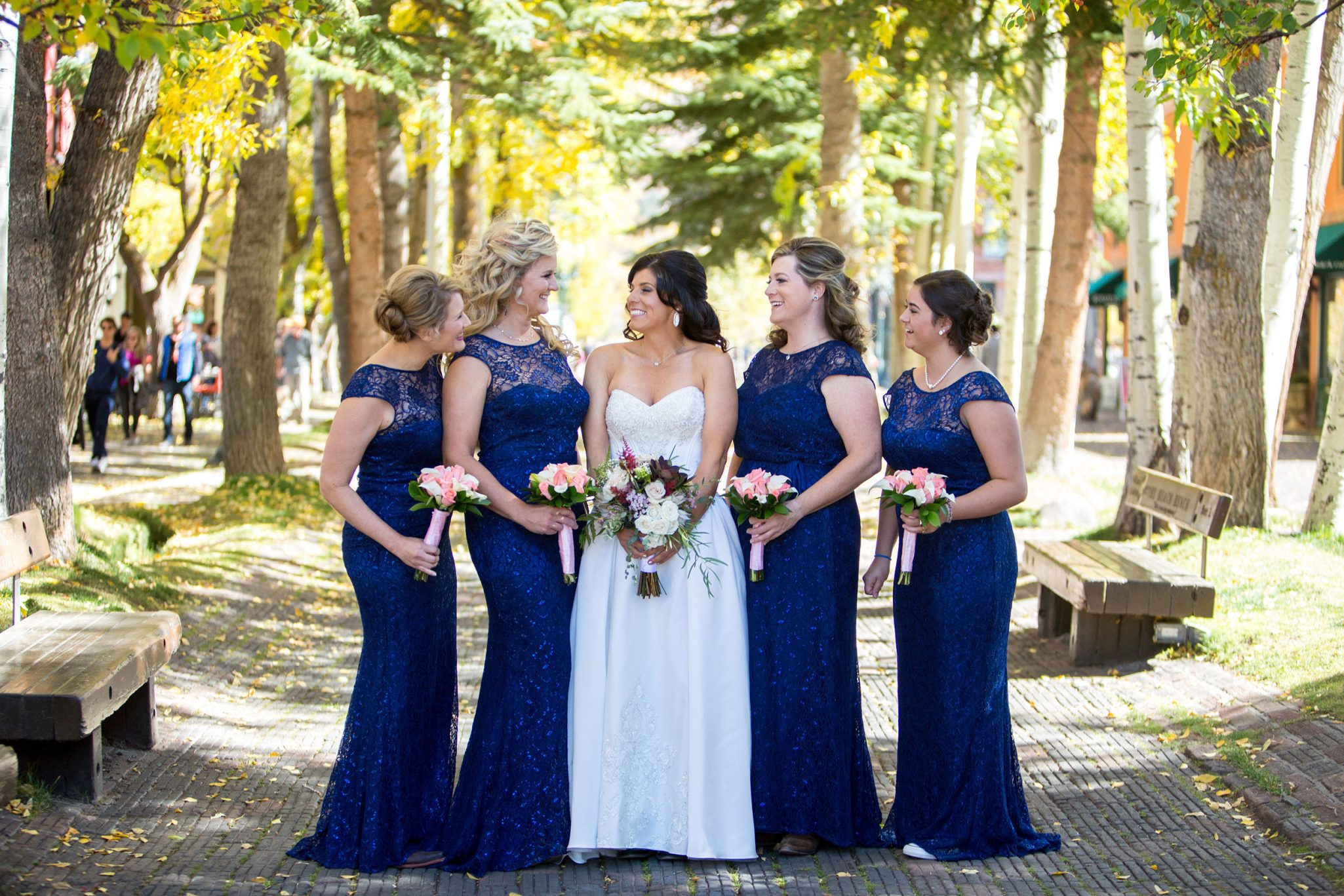 Bridesmaids | A Fall Aspen Wedding at T Lazy 7 Ranch, Colorado