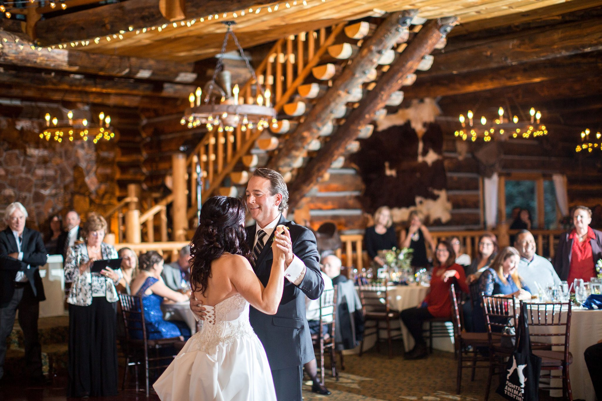 Reception dance | A Fall Aspen Wedding at T Lazy 7 Ranch, Colorado