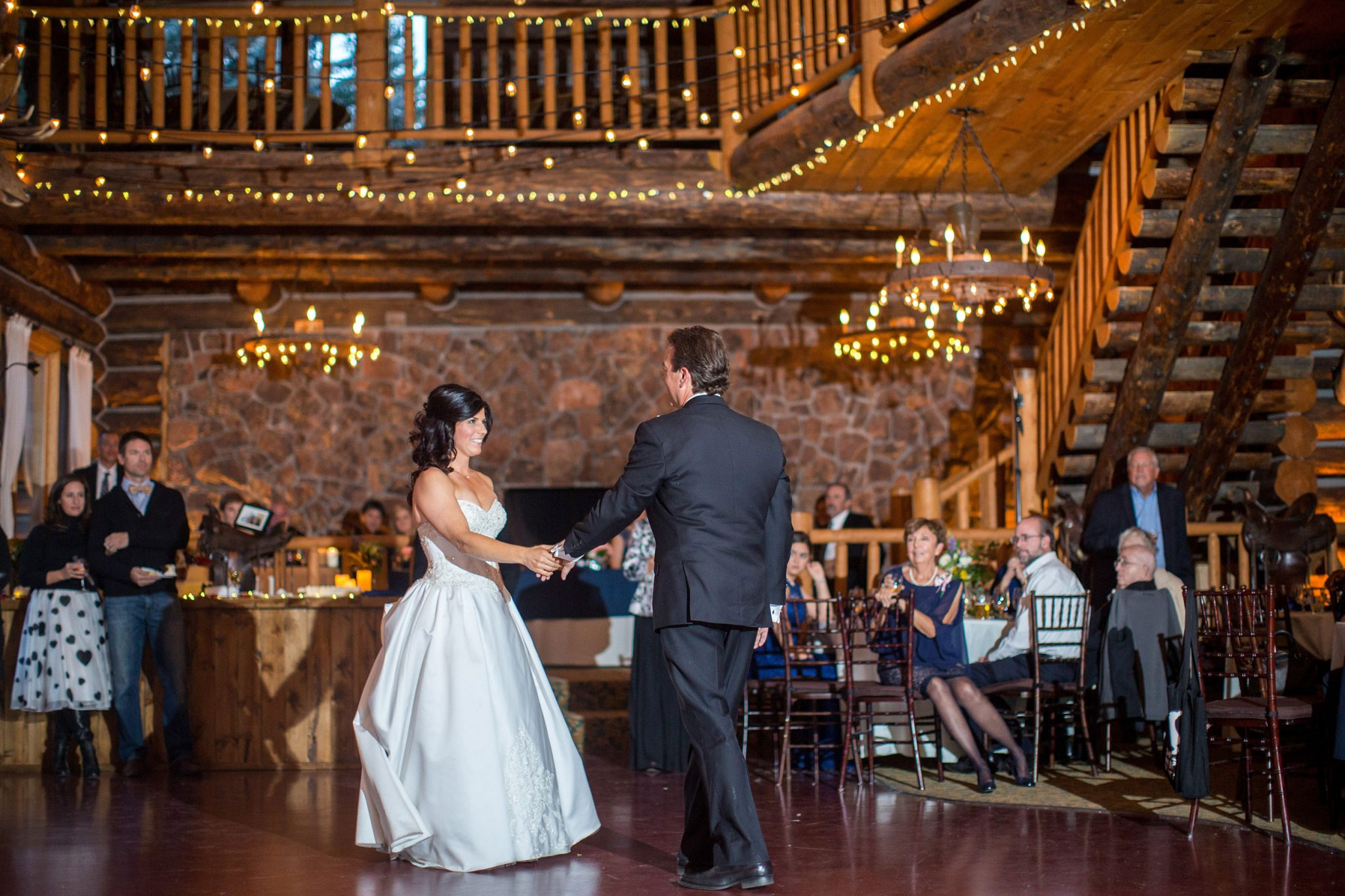 Bride + Groom dance | A Fall Aspen Wedding at T Lazy 7 Ranch, Colorado