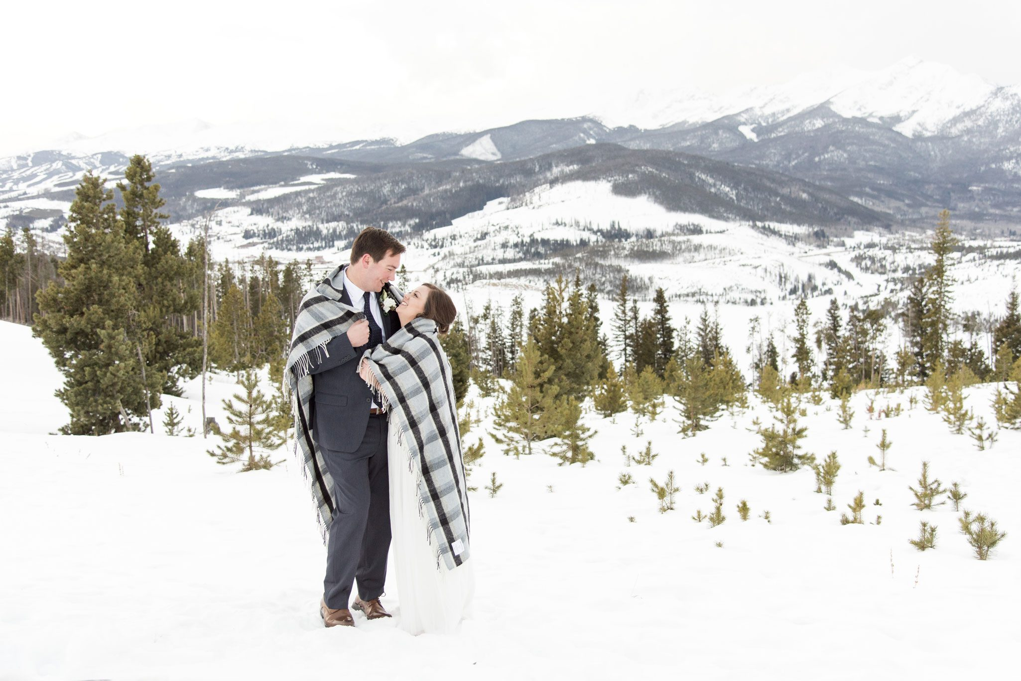 A Winter Breckenridge, Colorado Elopement in the Snow