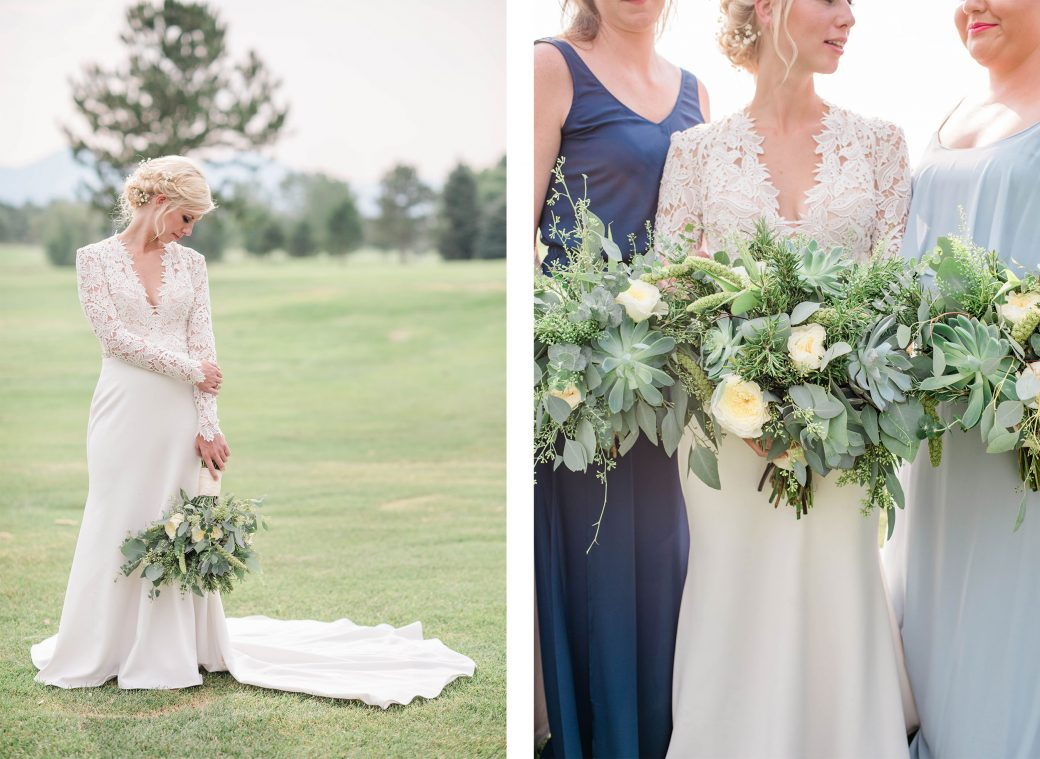 Bride + Bridesmaids | A Romantic outdoor wedding in Denver, Colorado