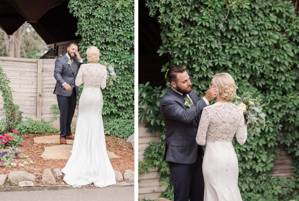 First Look | A Romantic outdoor wedding in Denver, Colorado
