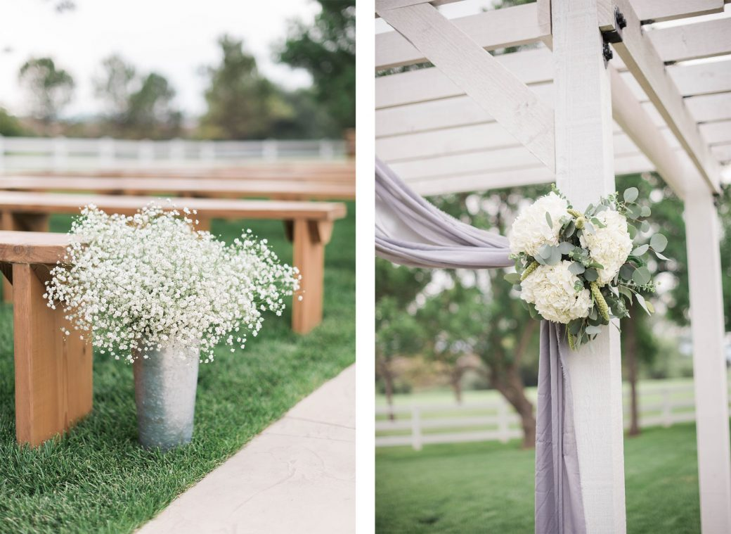 Ceremony decor | A Romantic outdoor wedding in Denver, Colorado