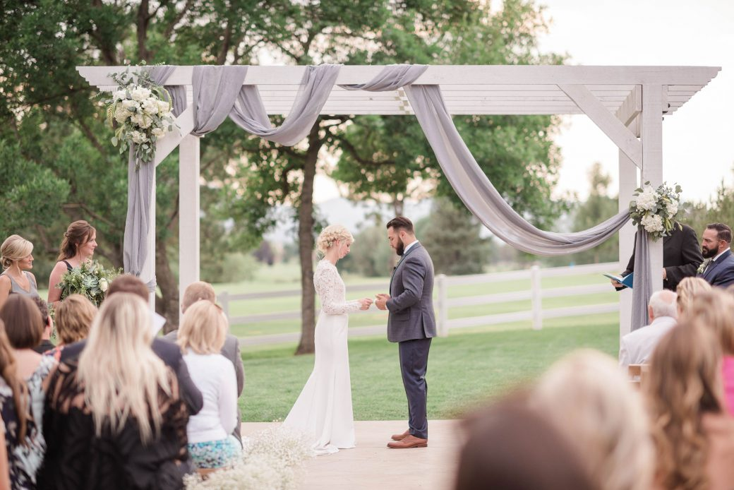 Ceremony | Ceremony decor | A Romantic outdoor wedding in Denver, Colorado