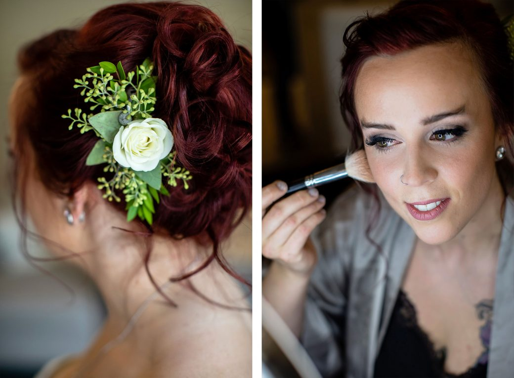 Bride Getting Ready | A Same-Sex Wedding in the Canadian Rockies