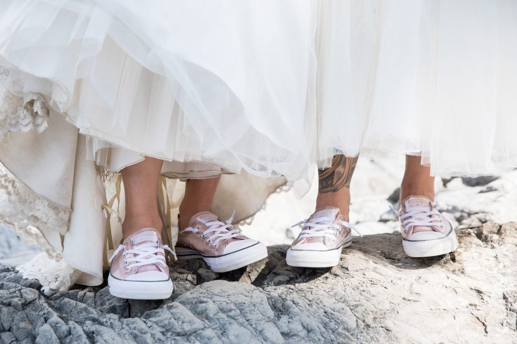 Converse | Getting Ready | A Same-Sex Wedding in the Canadian Rockies