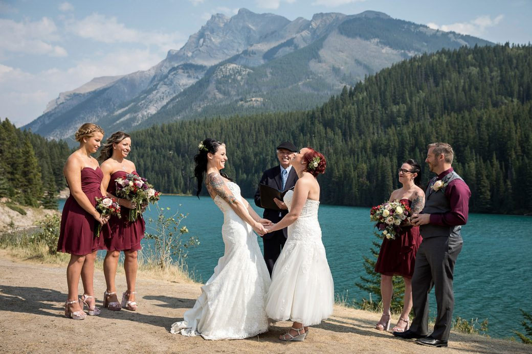 Lesbian Ceremony in Banff, Canada