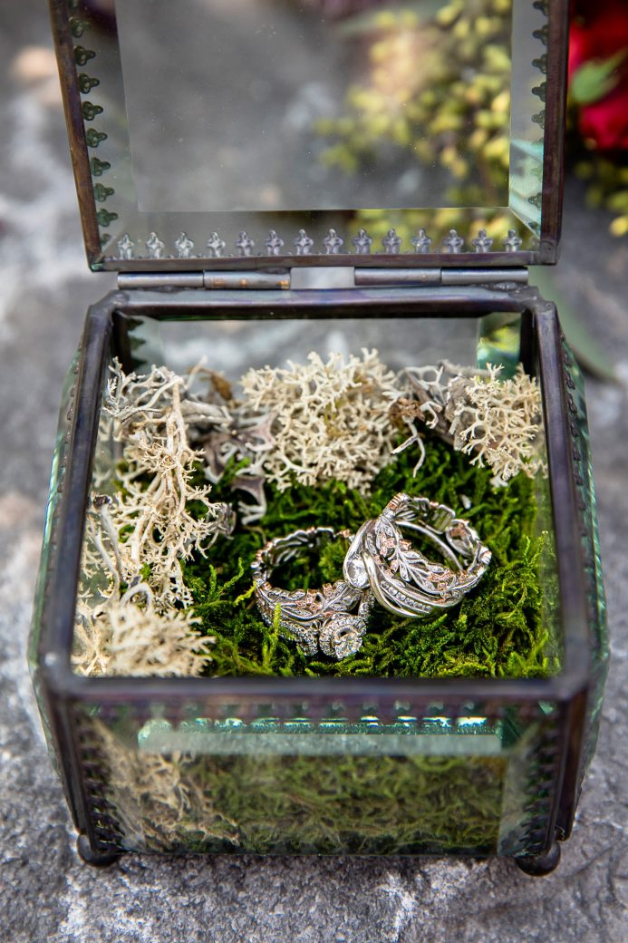 Floral Wedding Bands | A Same-Sex Wedding in the Canadian Rockies