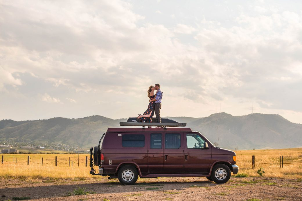 Campervan Engagement Session in Colorado