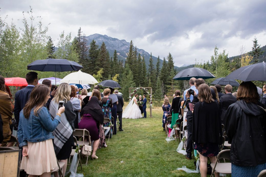 Outdoor ceremony | A Beautiful Mountain Wedding in Banff, Alberta,Canada