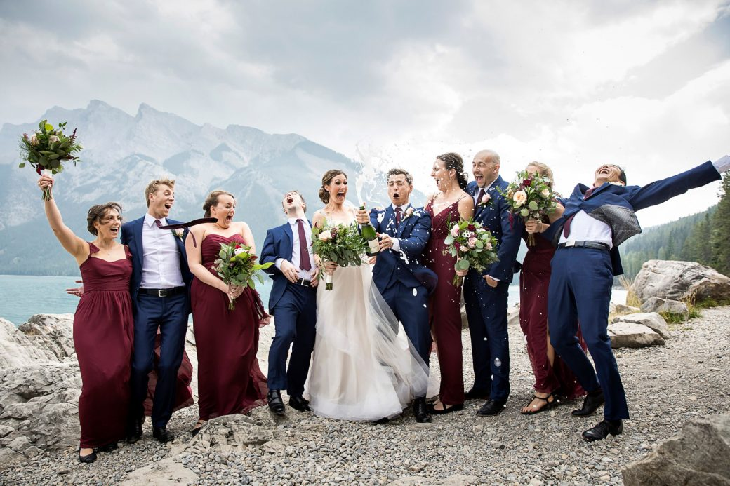 Pop the champagne! A Beautiful Mountain Wedding in Banff, Alberta,Canada