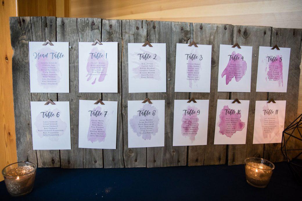 Escort display | A Beautiful Mountain Wedding in Banff, Alberta,Canada
