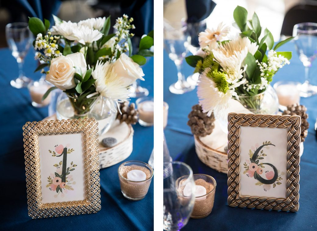 Table numbers | A Beautiful Mountain Wedding in Banff, Alberta,Canada