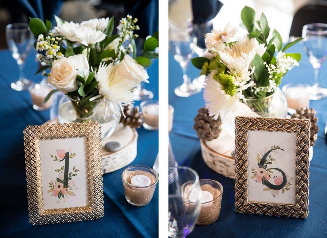 Table numbers | A Beautiful Mountain Wedding in Banff, Alberta,Canada