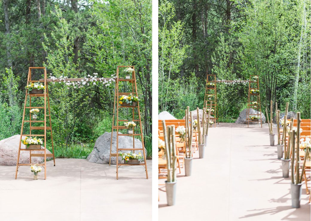 Ceremony aisle | A Mountain Destination Wedding in Vail, Colorado