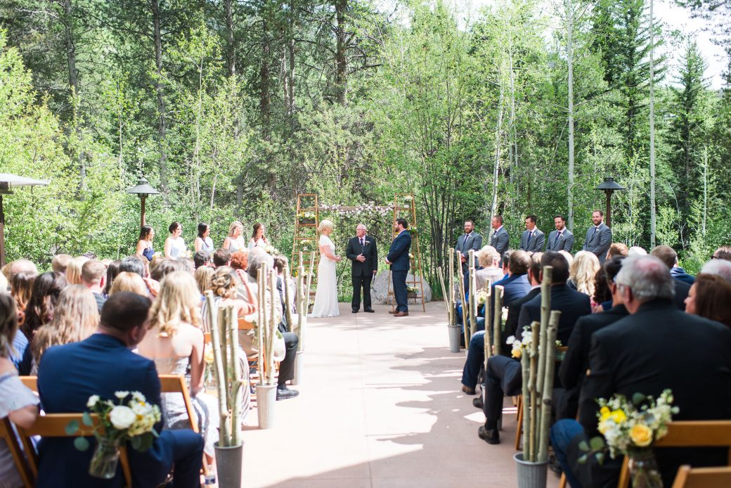 Wedding Ceremony | A Mountain Destination Wedding in Vail, Colorado