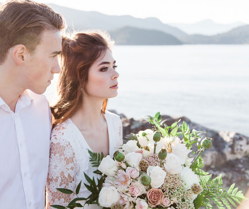 Ethereal Bridal Shoot Inspired by Light & Water